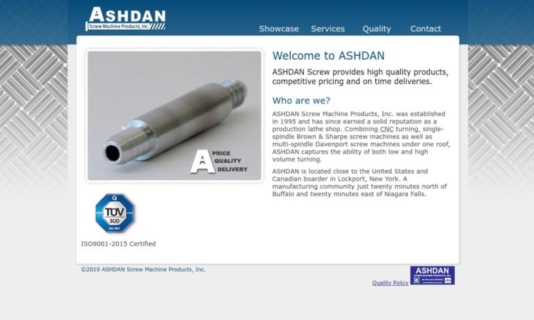 Ashdan Screw Machine Products, Inc.