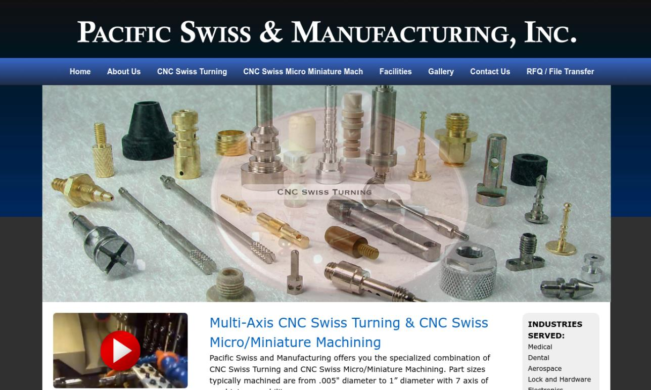 Pacific Swiss & Manufacturing, Inc.